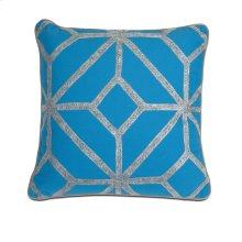 Blue and Gray Diamond Pillow