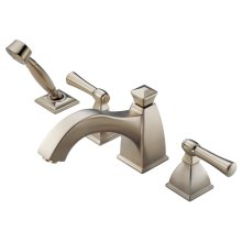 Roman Tub Faucet With Curve Spout and Handshower