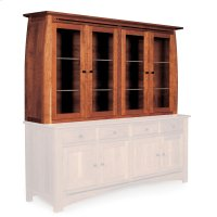 "Aspen Closed Hutch Top, 84 1/2"", Antique Glass Product Image"