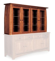 Aspen Closed Hutch Top, Extra Large, Antique Glass