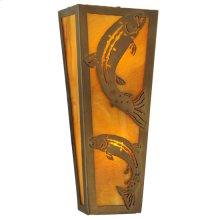"""5""""W Leaping Trout Wall Sconce"""