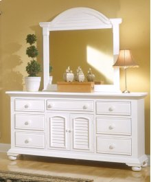 Dressing Mirror With Triple Dresser