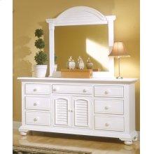 Dressing Mirror With Triple Dresser