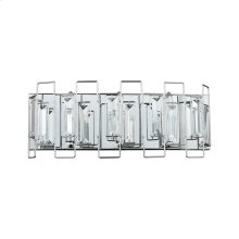 Crosby 3-Light Vanity Sconce in Polished Chrome with Clear Crystal