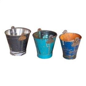 Iron Bucket Set of 3