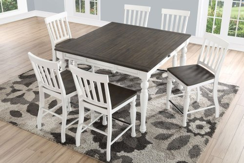 """Joanna Two Tone Counter Table 54""""x36""""x54""""xw/18"""" Leaf"""