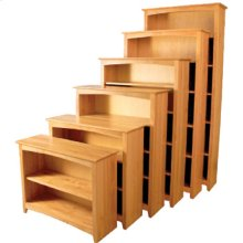 """Unfinished 36""""x36"""" Alder Shaker Bookcase"""