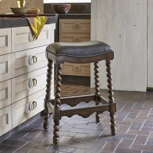 Coventry Barstool - Dark Leather