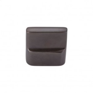 Aspen Flat Sided Knob 7/8 Inch (c-c) - Medium Bronze