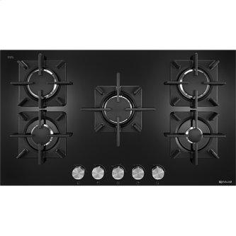 "Jenn-Air(R) 36"", Glass 5-Burner Gas Cooktop, Black"