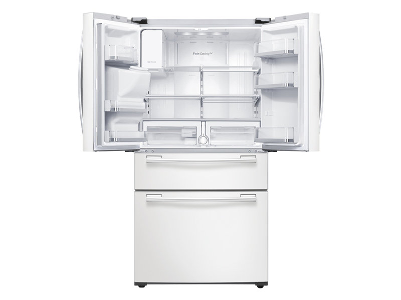 Rf25hmedbwwsamsung 25 Cu Ft 4 Door French Door Refrigerator White
