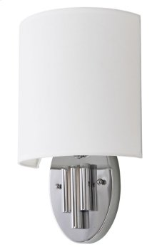 Darlene Wall Sconce - Chrome Shade Color: Off-White