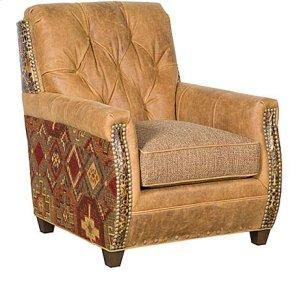 Wyatt Leather/Fabric Chair, Wyatt Leather/Fabric Ottoman
