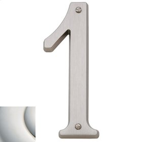 Polished Nickel with Lifetime Finish House Number - 1