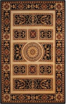 Versailles Palace Vp21 Ivory/black Rectangle Rug 7'6'' X 9'6''
