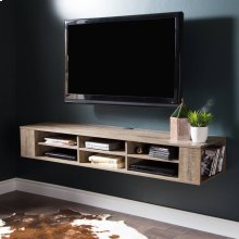 Wall Mounted Media Console - 66\ - Weathered Oak