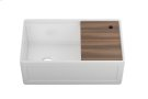 "Fira 093319 - undermount with apron front fireclay Kitchen sink with accessory ledge , 31 1/4"" × 15 3/4"" × 10"" Product Image"