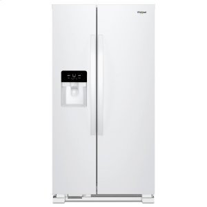 33-inch Wide Side-by-Side Refrigerator - 21 cu. ft. - WHITE