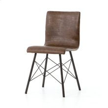 Distressed Brown Cover Diaw Dining Chair