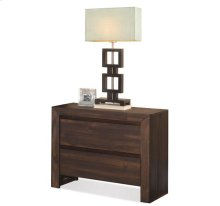 Modern Gatherings Two Drawer Nightstand Brushed Acacia finish