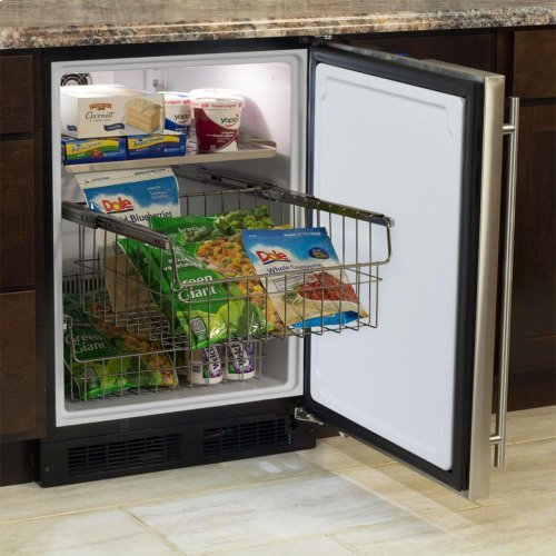 "24"" All Freezer  Marvel Premium Refrigeration - Solid Overlay Panel - Integrated Left Hinge"