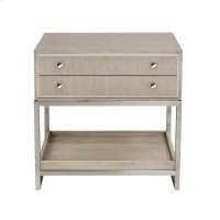 Sutton Place 2 Drawer USB Charging Nightstand in Grey Oak Product Image