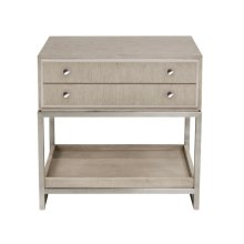 Sutton Place 2 Drawer USB Charging Nightstand in Grey Oak