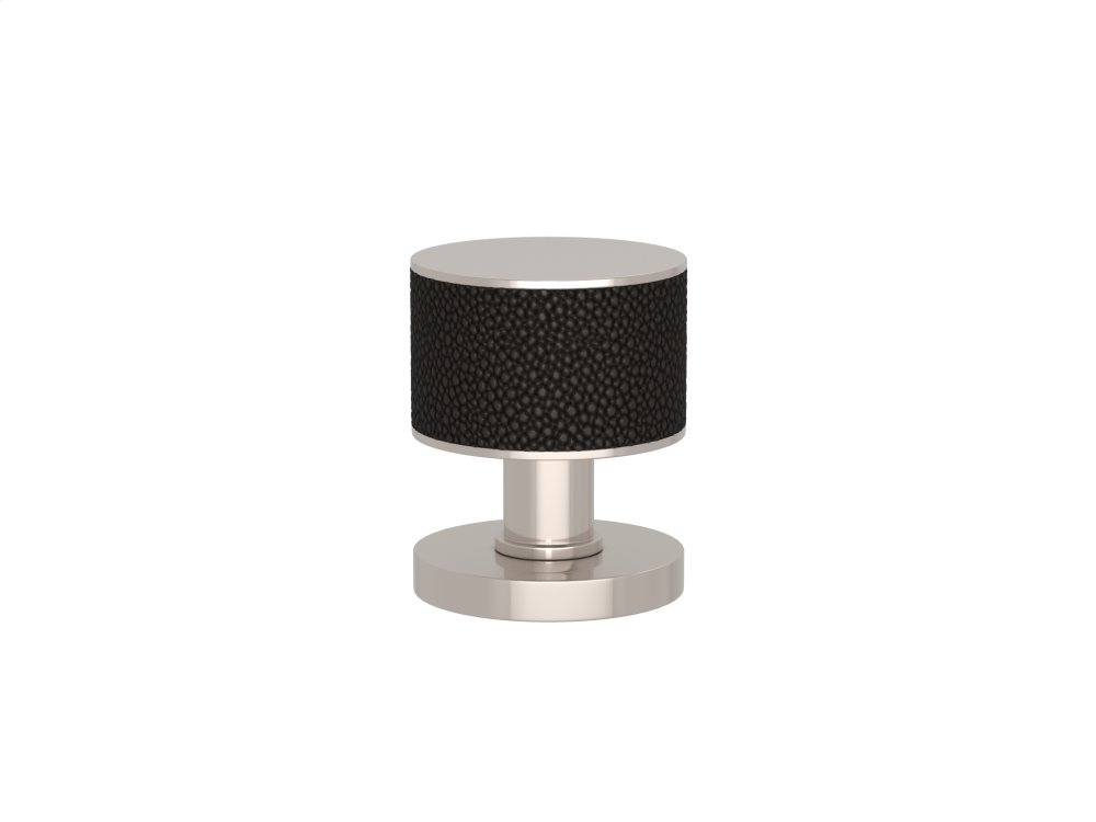 Stacked Shagreen Recess Amalfine In Black Bronze And Polished Nickel