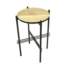 Metal & Wood Accent Table
