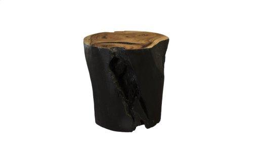 Chamcha Wood Dining Table Base, Burnt Edge