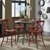 Liberty Furniture Industries X Back Counter Chair - Red