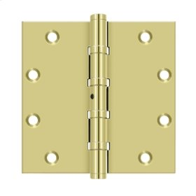 """5""""x 5"""" Square Hinges, Ball Bearings - Polished Brass"""