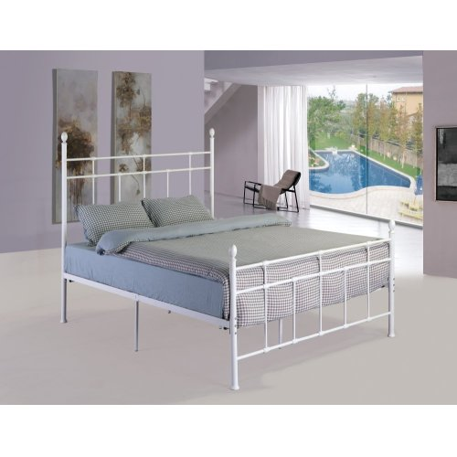 Emerald Home Alexandria Metal Bed White B204-12hbfbrwht