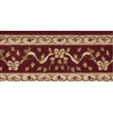Ashton House A01b Burgundy Border