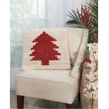 Home for the Holiday Dc569 Ivory Red Throw Pillows