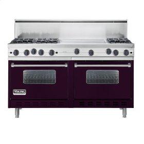"""Plum 60"""" Open Burner Commercial Depth Range - VGRC (60"""" wide, six burners 24"""" wide griddle/simmer plate)"""