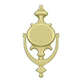 Door Knocker, Imperial - Polished Brass