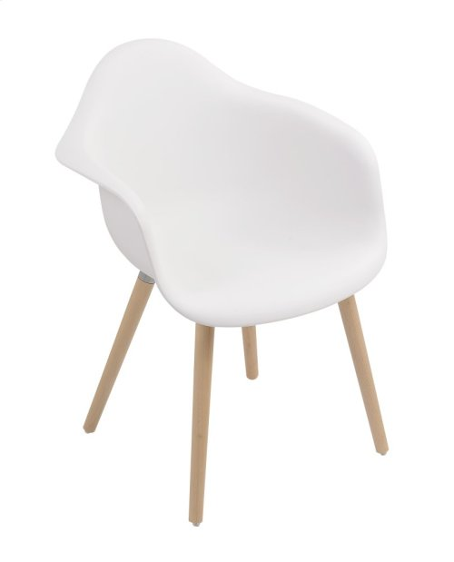 Emerald Home Annette Dining Chair White Seat Wood Legs D118chr-26wht
