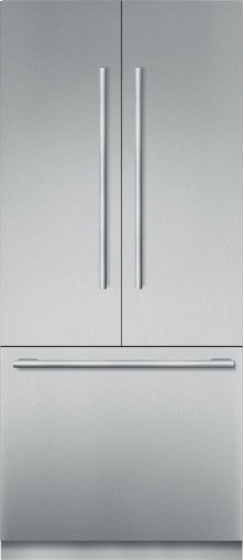 """36"""" Stainless Steel Built In French Door bottom Freezer, Pre-Assembled, Masterpiece® Handle T36BT910NS"""