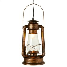 Antique Black with Gold Lantern Pendant. 40W Max. Plug-in with Hard Wire Kit Included.