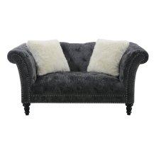 Emerald Home Hutton II Loveseat Nailhead W- 2 Pillows Charcoal U3164-01-53