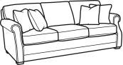 Coburn Fabric Sofa without Nailhead Trim