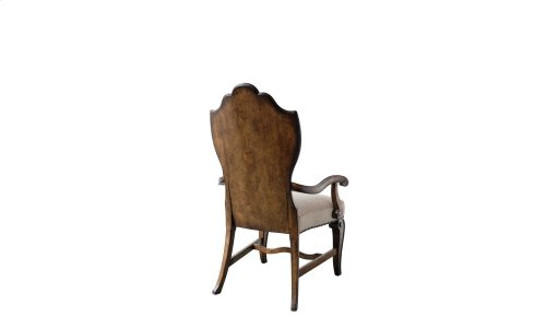 Continental Wood Back Arm Chair - Weathered Nutmeg