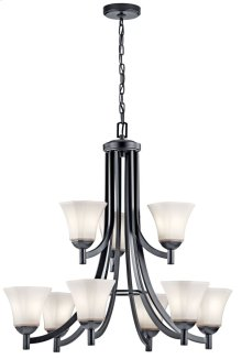 Serina 9 Light Chandelier Black