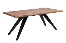 Mojave Live Edge Dining Table Black Flared Legs, LEIL-4