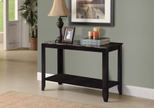 "ACCENT TABLE - 44""L / BLACK / GREY MARBLE TOP"
