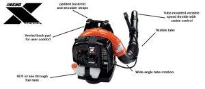 X-Series Powerful Tube-Mounted Throttle Backpack Leaf Blower