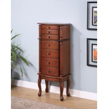 Transitional Warm Brown Jewelry Armoire