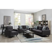 Watsonville Retro Grey Sofa