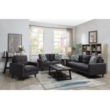 Watsonville Retro Grey Sofa